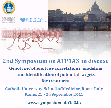 All the information available on the Official Website of the Symposium on ATP1A3 in disease